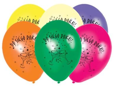 Balony DO SIEGO ROKU-6szt./op.