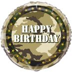 Balon foliowy Military-Happy Barthday.