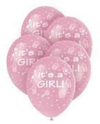 "Balony ""It's a girl"" 5szt./op."